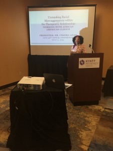 Dr. Anah Presenting on Racial Microaggressions @ The 46th AATA Conference in Minnesota.